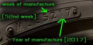 How to read tire date codes