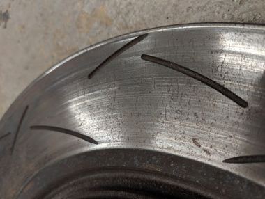 Slotted Brake Rotor with some heat checking