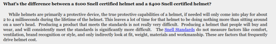 SNELL helmet prices