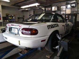 Spec Miata on alignment Rack