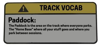 Track Vocab Paddock
